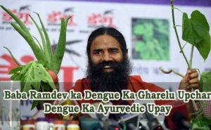 Baba Ramdev ka Dengue Ka Gharelu Upchar, Dengue Ka Ayurvedic Upay
