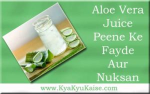 एलोवेरा जूस के फायदे और नुकसान, Aloe vera juice peene ke fayde in hindi